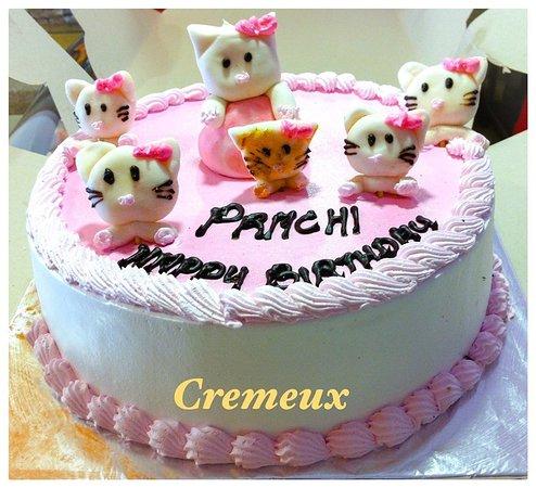 cremeux cat cartoon customized cake
