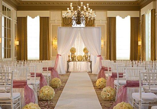 Peoria, IL: LaSalle Ballroom - Wedding Ceremony Setup