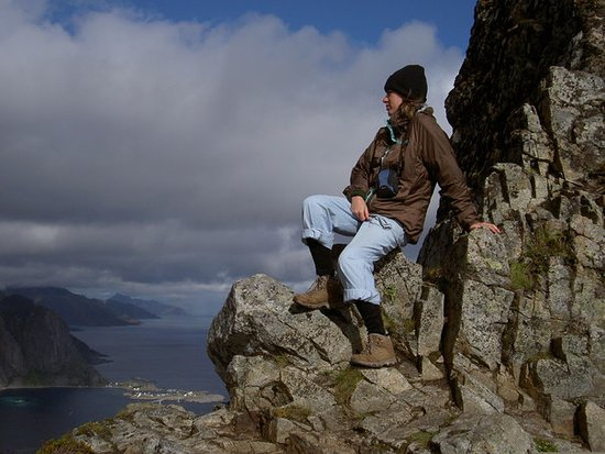 Reine, Norge: raggiunta la cima