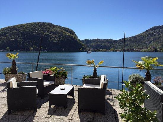 Tresa Bay Hotel: Sundeck terrace ... la nostra terrazza al lago