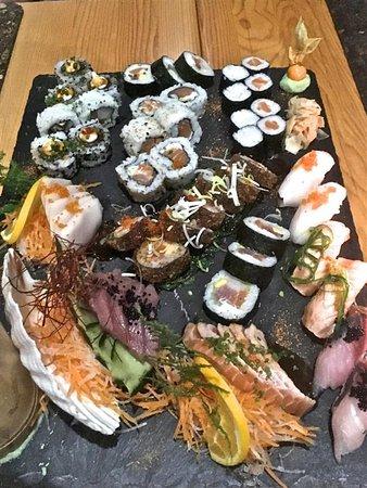 Santa Barbara Restaurant Eine Der Tollen Sushi Platten One Of The Great