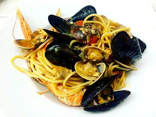 Montalto di Castro, Italien: Spaghetti cozze e vongole