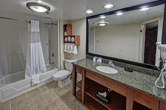 Hampton Inn Athens: King Bathroom