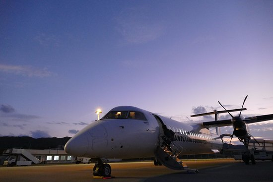 Yonaguni-cho, Japan: 11月6日の日没(18:10)後 石垣に向けて飛びました。さようなら与那国島