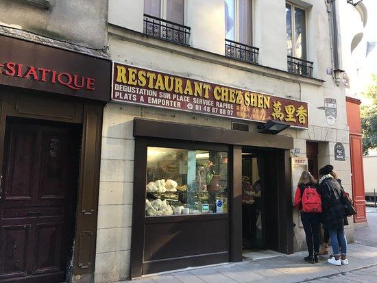 Chez Shen: J'adore ce restaurant, c'est frais, y a du choix, certes un peu exiguë mais il faut éviter les h