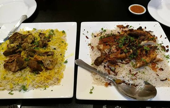 Cyberjaya, Malezya: lamb hanith and chicken mandi