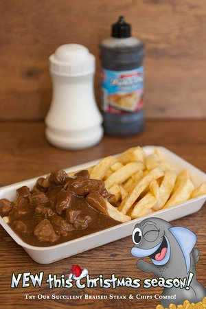 Winsford, UK: New to our menu - Home-Made Braised Steak and Chips!