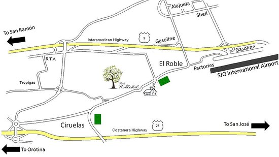 Hotel Robledal: Map