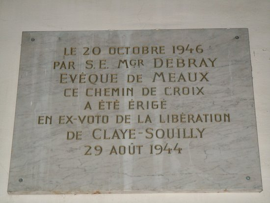 Claye Souilly, France: Plaque mémorial