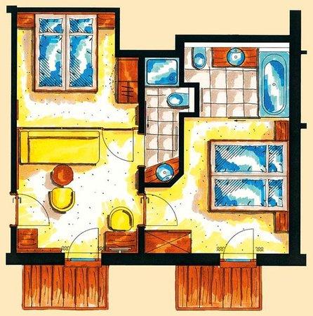 Санкт-Леонхард-им-Питцталь, Австрия: Family suite 55 m2