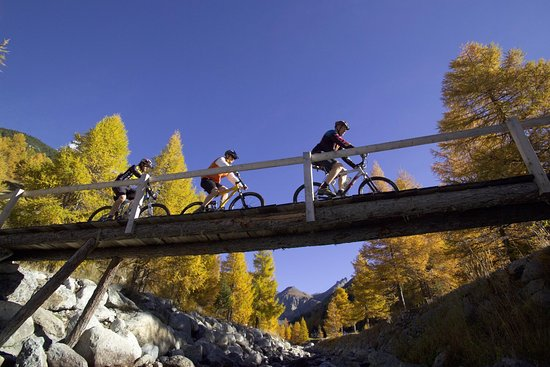 Scuol, Schweiz: Biking