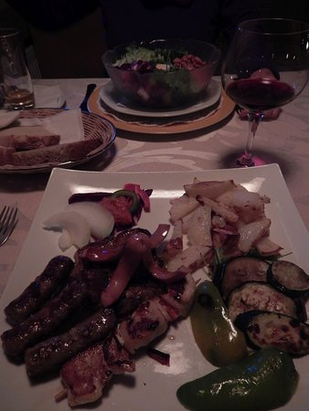 Guesthouse Ales: Three meat platter from restaurant menu