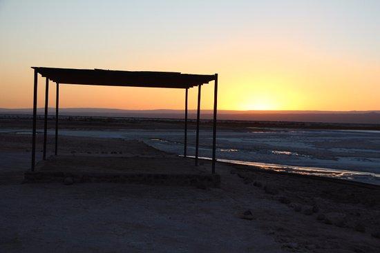 Laguna Tebinquinche: Por do sol