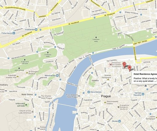 Hotel Residence Agnes: Map