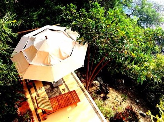 Villa Guadalupe Hotel: Terraza en la habitación Ma. Lourdes
