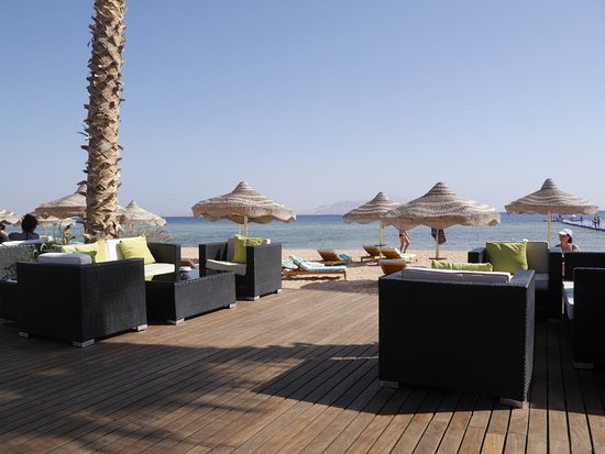 Baron Resort Sharm El Sheikh: Бар на пляже.