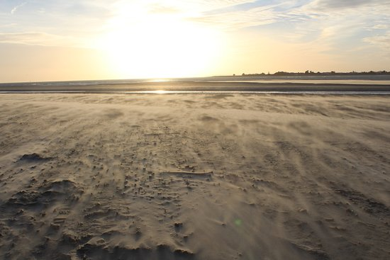West Wittering, UK: Too cold for some