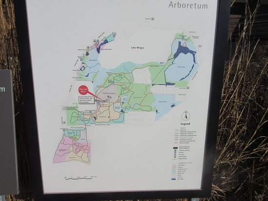 University Of Wisconsin Map The map of the Arboretum   Picture of University of Wisconsin