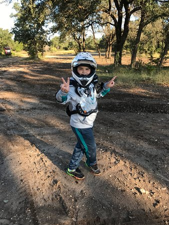 Marble Falls, TX: My 8 year old son styling.