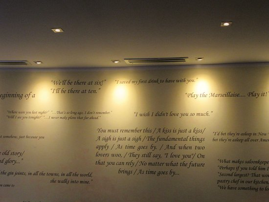 Quotes from the film on the wall Picture of Casablanca