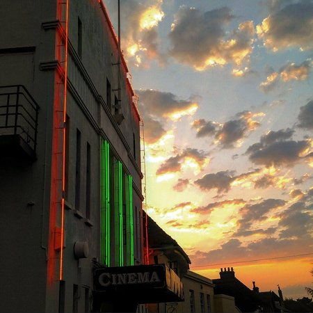 Empire Cinema: Exterior with Neon Lights
