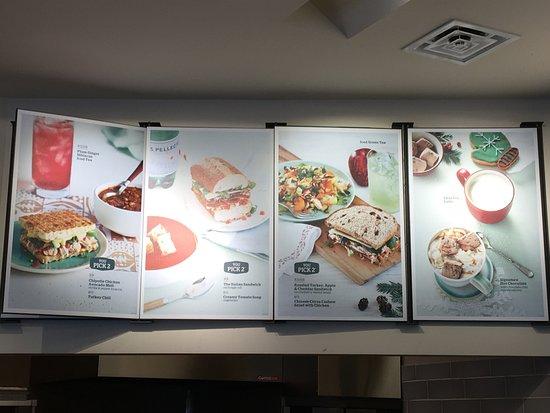 East Hanover, NJ: Panera Bread - menu board