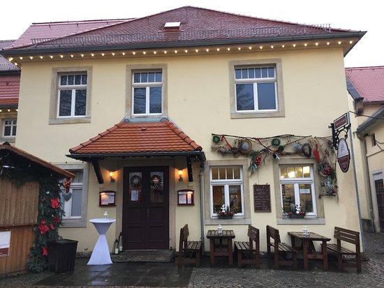 Freital, Jerman: Außenansicht des Cafés