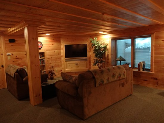 Land O' Lakes, WI : Lower level suite TV area
