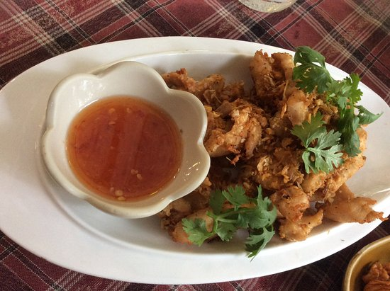 "Bang Tao Beach, Thaïlande : Poulet ""garlic and pepper"" (ail et poivre)"