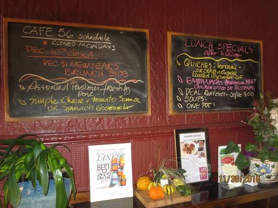 Middletown, CT: specials board