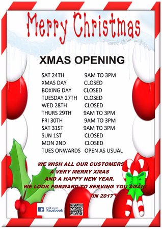 Grimsby, UK: XMAS AND NEW YEAR OPENING TIMES