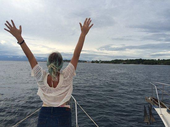 Bocas Town, Panama: Enjoying the breeze
