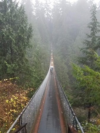 North Vancouver, Canada: Capilano Suspension Bridge wet and wild