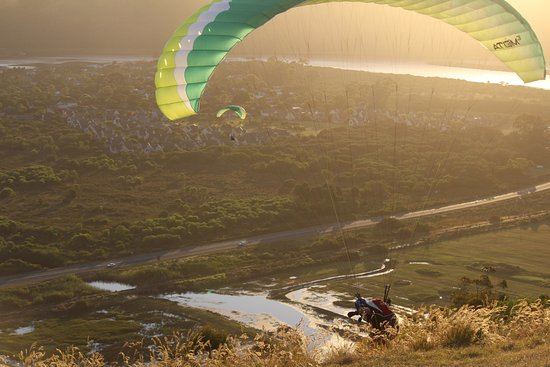 Wilderness, Zuid-Afrika: Training paragliding Dolphin Paragliding Team
