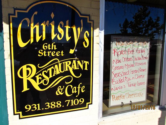 Columbia, TN: Sign & menu