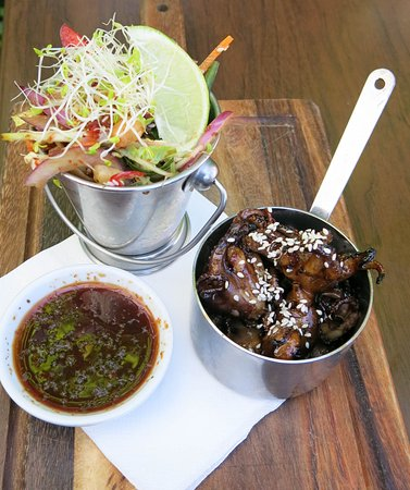 Shellharbour, Australia: Braised baby octopus with salad