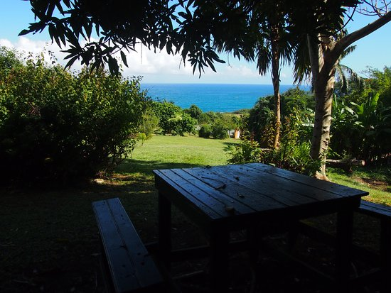 Port Maria, Jamaica: View of the ocean from the hilltop Cool Vibes Cottage.