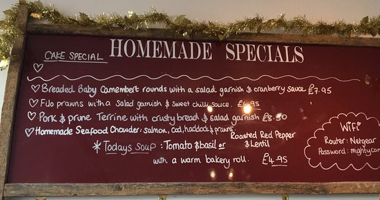 Borth-y-Gest, UK: Specials of the day...