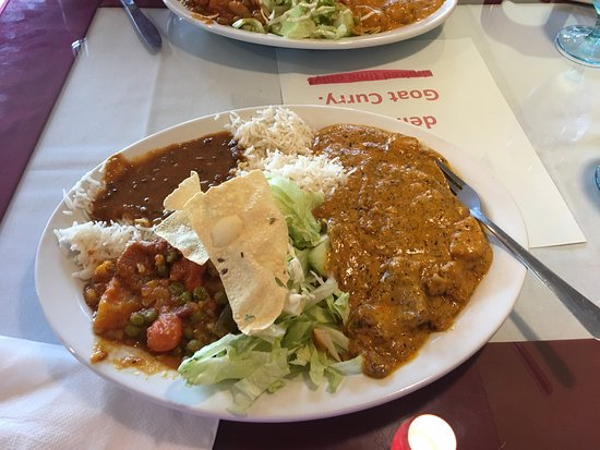 Poulsbo, WA: Lamb mango curry lunch special and chicken  Mango curry lunch special