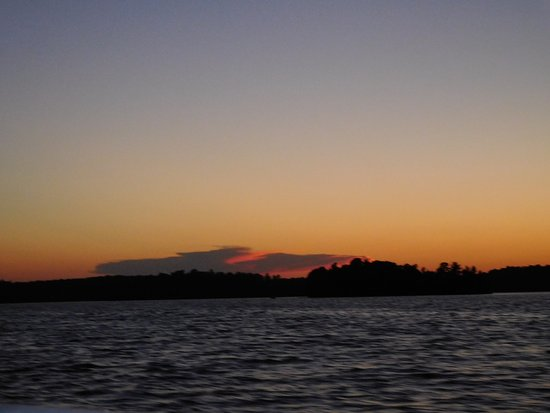Cook, MN: Sunset on Lake Vermillion at White Eagle Resort