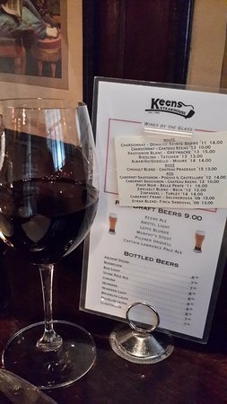 Keens Steakhouse: 紅酒單