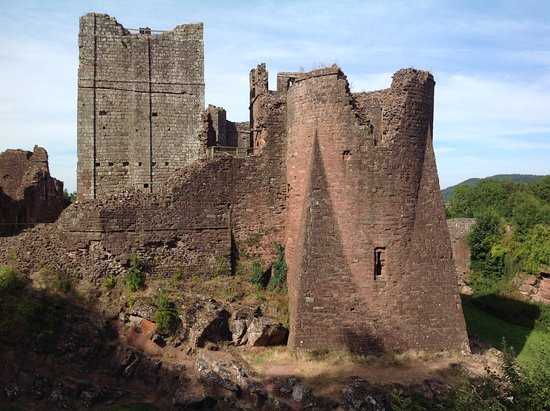 Buttresses at Goodrich Castle