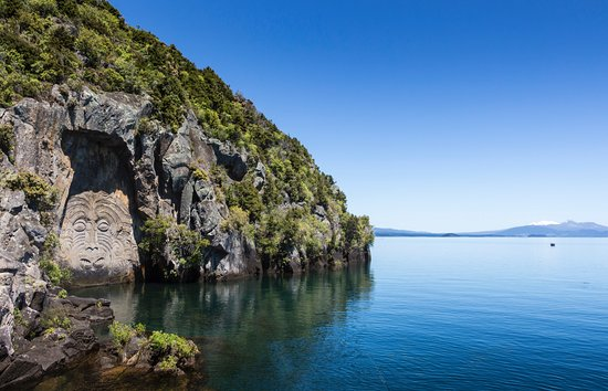 Taupo, New Zealand: carvings