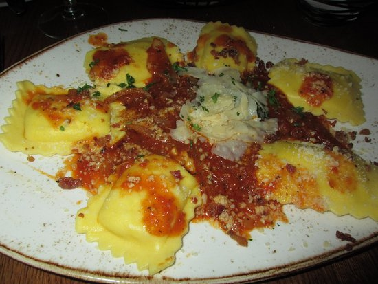 Hubertus, WI: Four-cheese Ravioli! Oh so good!