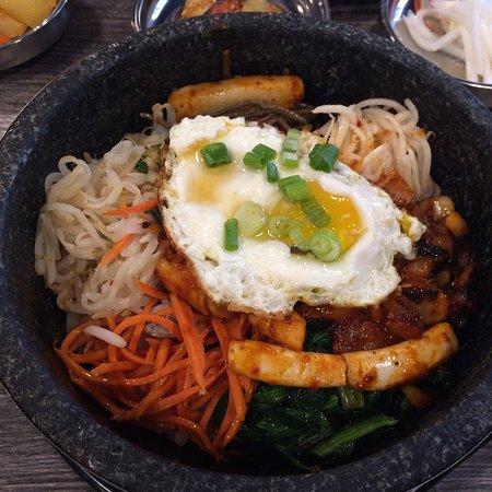 danbi korean restaurant great food sauteed squid and seafood stone pot