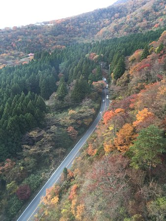 Fuji, Japón: view from the cabe ride above mt.Hakone