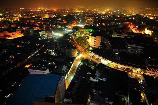 Bandung Night Cityscape