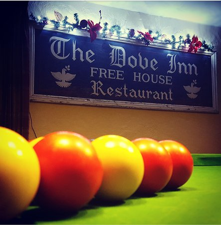The Dove Inn: Pool table fun £1 a go