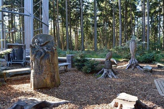 Lipno nad Vltavou, Czech Republic: Wooden playground near the main entrance