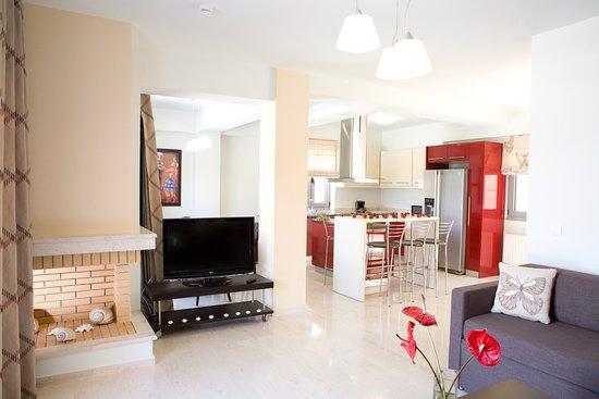 Thealos Village : Villa - interior view - tv - dvd - satellite - fireplace